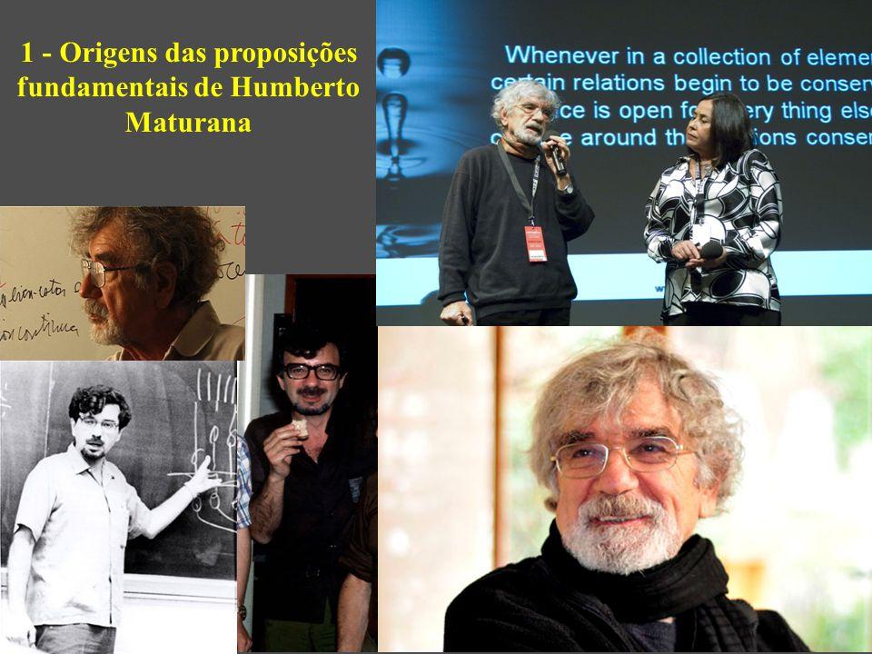 Humberto Maturana Romesín, nascido em 1928, é chileno, começou medicina na Escuela de Medicina de la Universidad de Chile (1948), continuou na Inglaterra (1954).