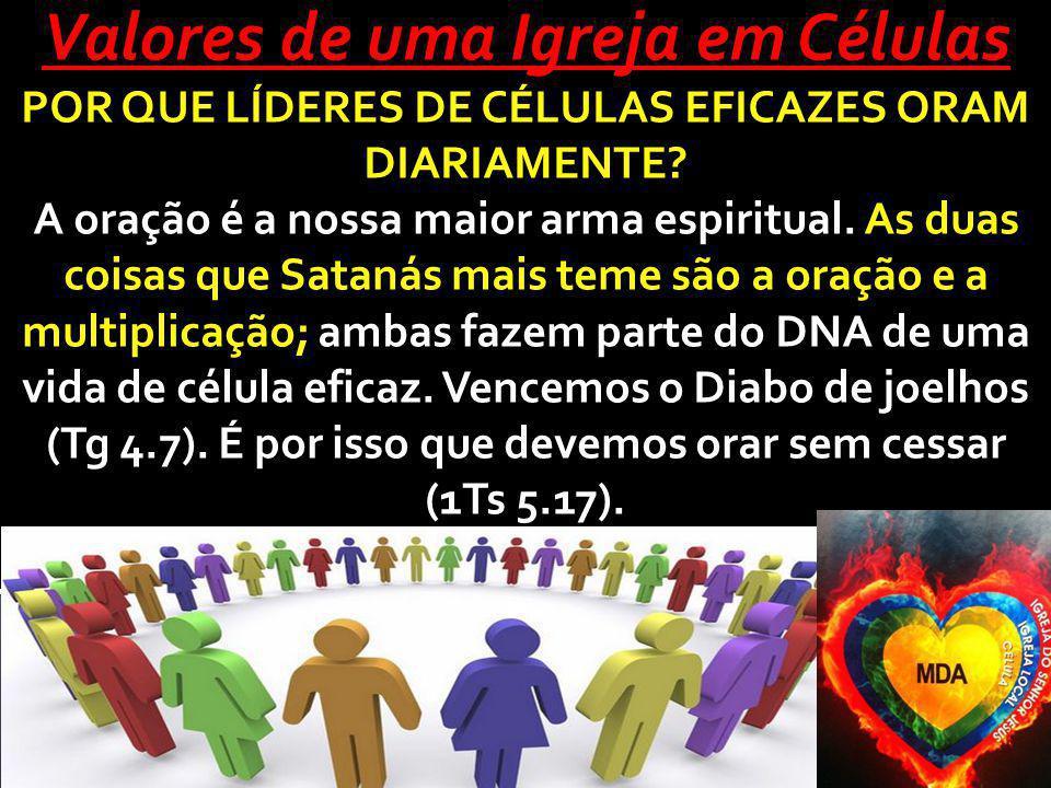 Valores de uma Igreja em Células POR QUE LÍDERES DE CÉLULAS EFICAZES ORAM DIARIAMENTE.