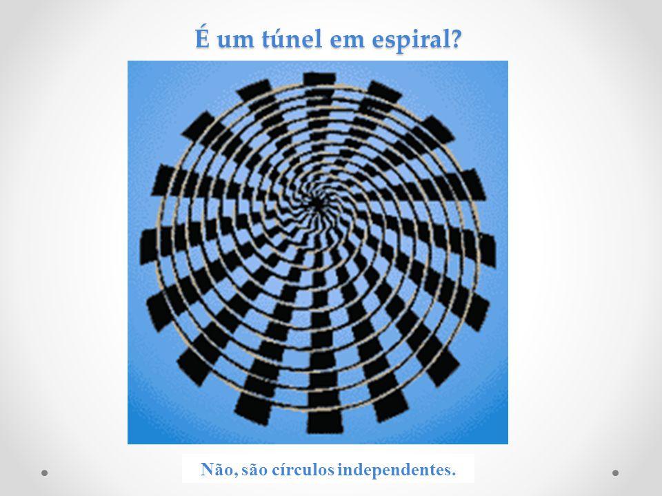 É um túnel em espiral? Não, são círculos independentes.