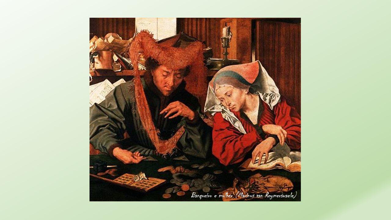 Banqueiro e mulher (Marinus van Reymerswaele)