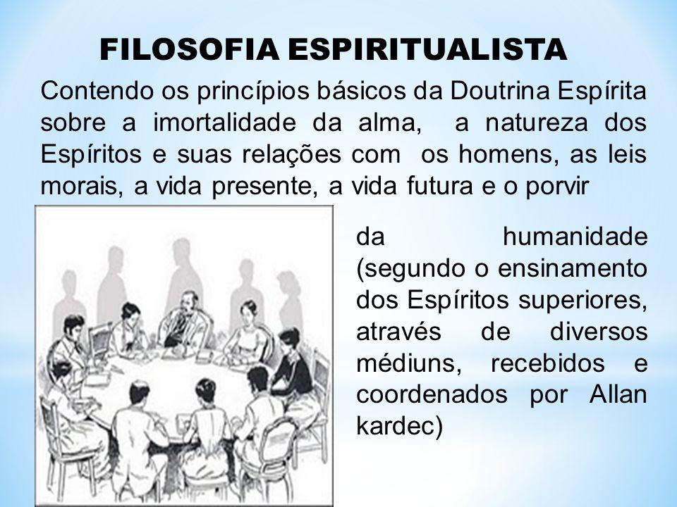 FILOSOFIA ESPIRITUALISTA Contendo os princípios básicos da Doutrina Espírita sobre a imortalidade da alma, a natureza dos Espíritos e suas relações co