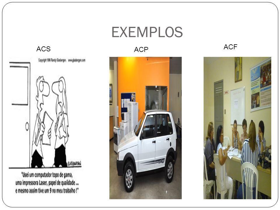 EXEMPLOS ACS ACP ACF