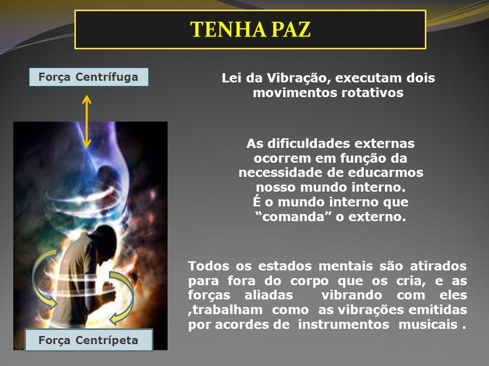 Lei da Vibração, executam dois movimentos rotativos As dificuldades externas ocorrem em função da necessidade de educarmos nosso mundo interno. É o mu