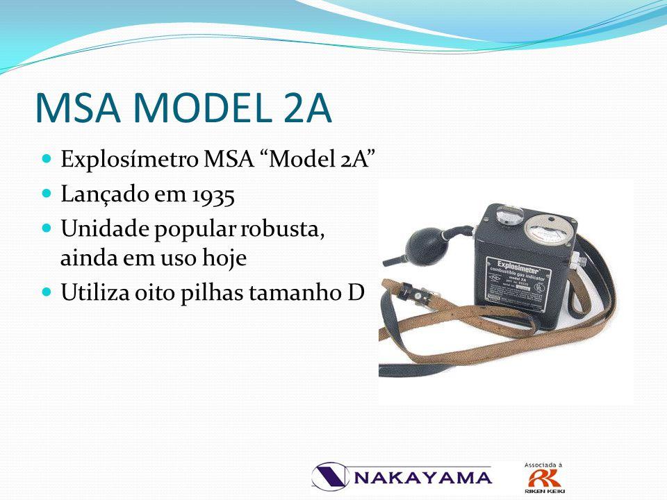 """MSA MODEL 2A Explosímetro MSA """"Model 2A"""" Lançado em 1935 Unidade popular robusta, ainda em uso hoje Utiliza oito pilhas tamanho D"""