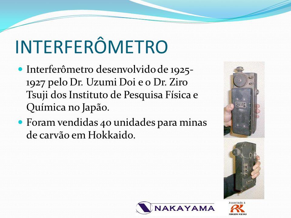 INTERFERÔMETRO Interferômetro desenvolvido de 1925- 1927 pelo Dr. Uzumi Doi e o Dr. Ziro Tsuji dos Instituto de Pesquisa Física e Química no Japão. Fo