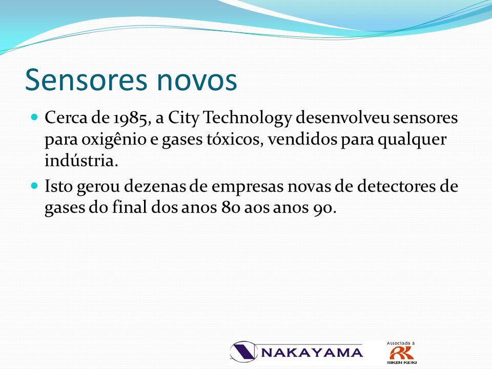 Sensores novos Cerca de 1985, a City Technology desenvolveu sensores para oxigênio e gases tóxicos, vendidos para qualquer indústria. Isto gerou dezen