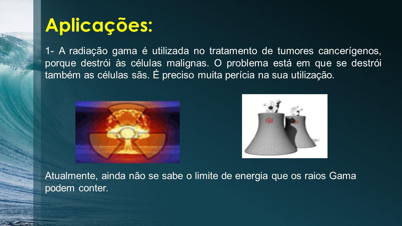 As radiações gama são as mais energéticas e com menor comprimento de onda.