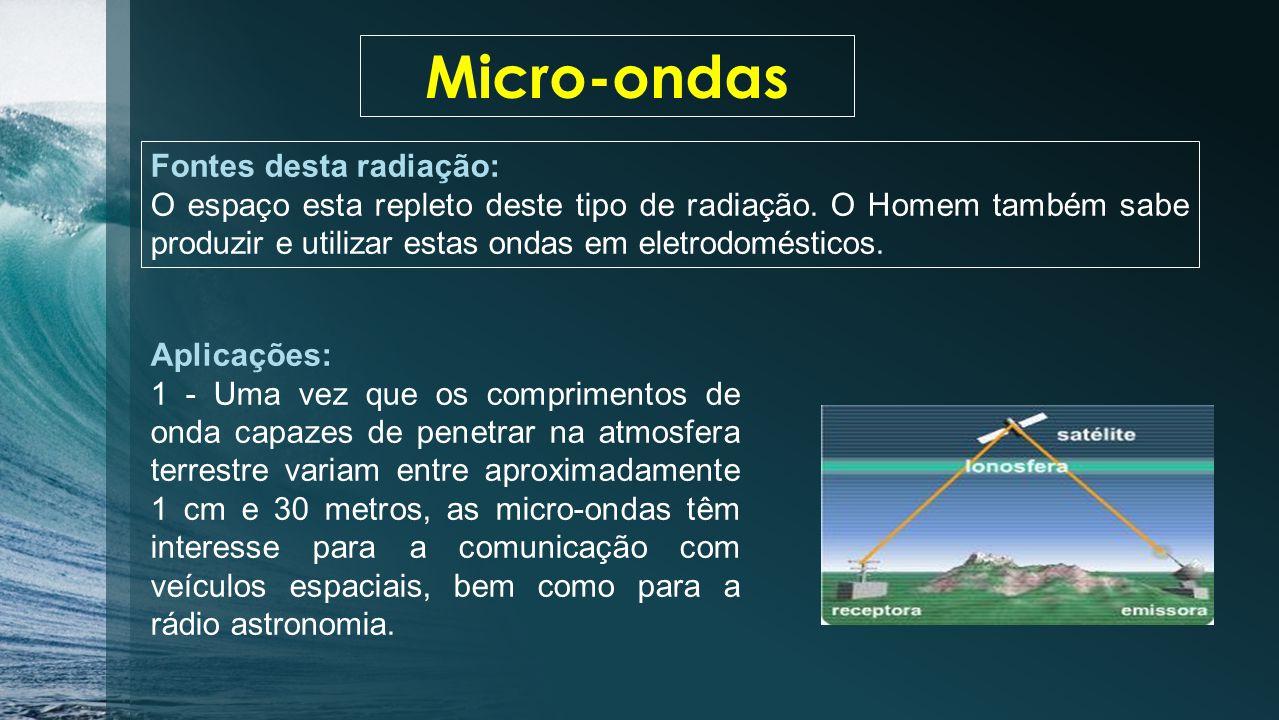 Fontes desta radiação: Qualquer corpo quente é produtor de infravermelhos.
