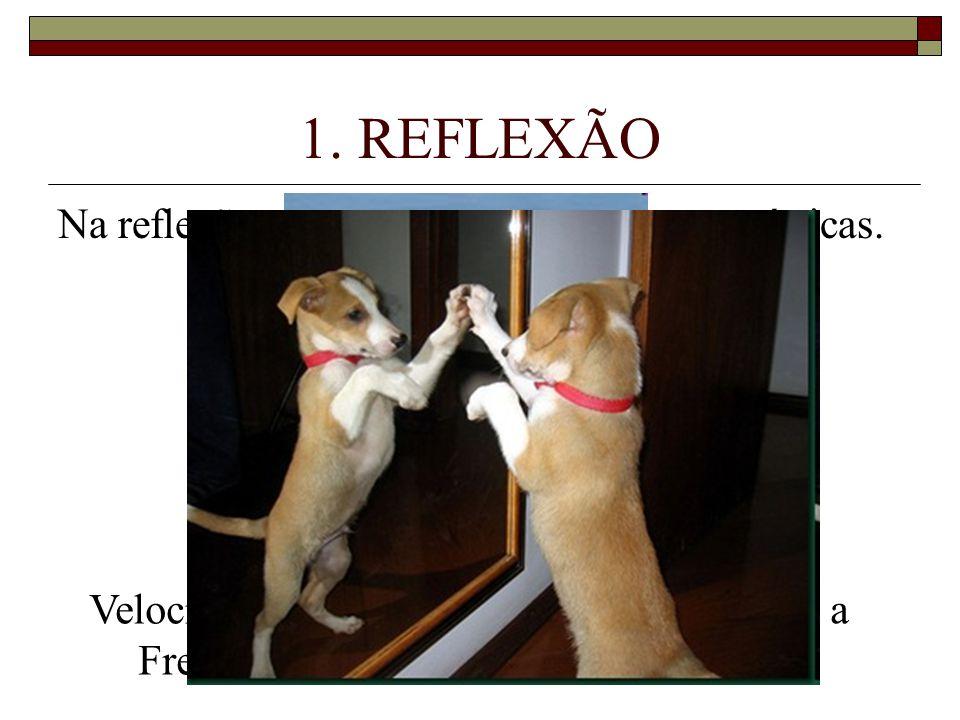 1.REFLEXÃO Na reflexão, a onda mantém suas características.