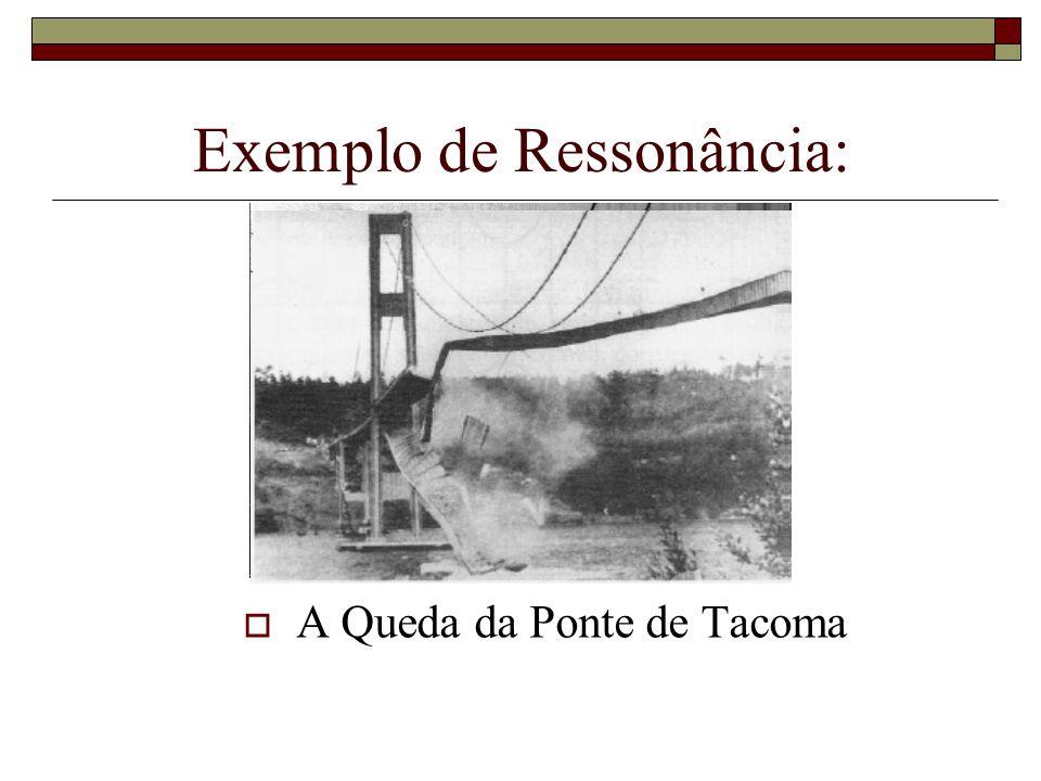 Exemplo de Ressonância:  A Queda da Ponte de Tacoma