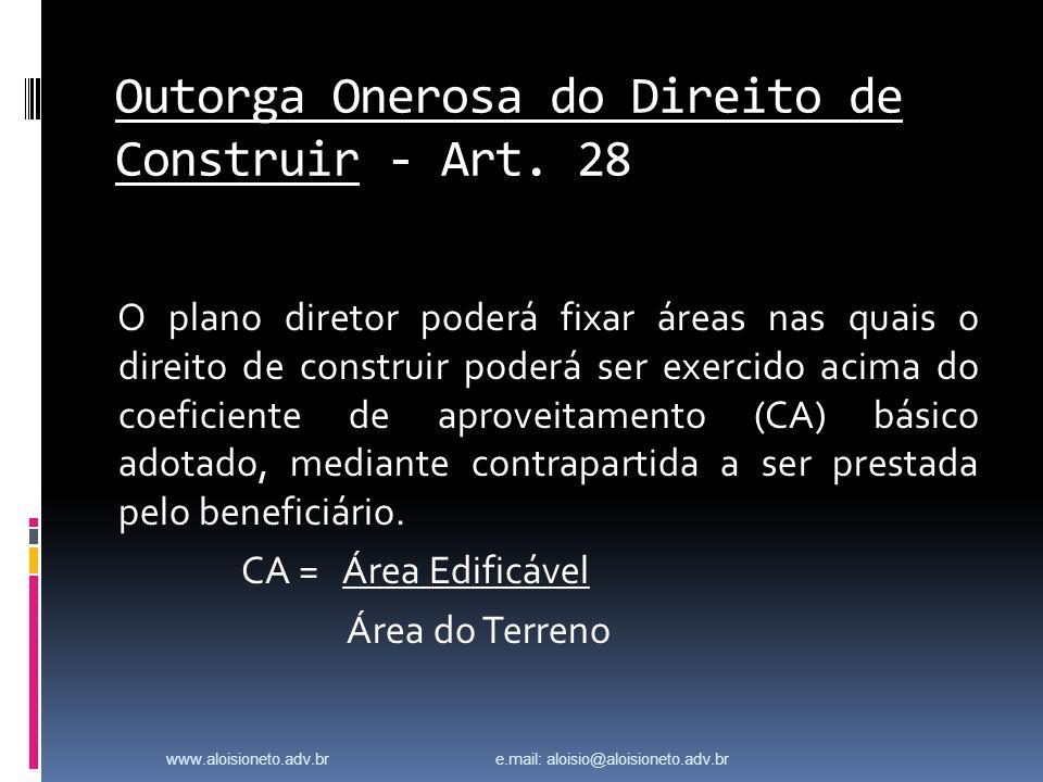 Outorga Onerosa do Direito de Construir - Art.