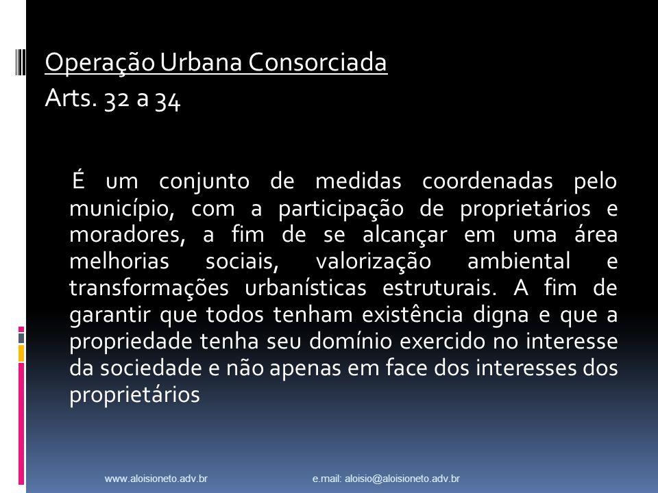Operação Urbana Consorciada Arts.