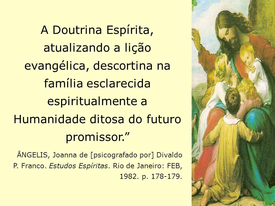 """A Doutrina Espírita, atualizando a lição evangélica, descortina na família esclarecida espiritualmente a Humanidade ditosa do futuro promissor."""" ÂNGEL"""