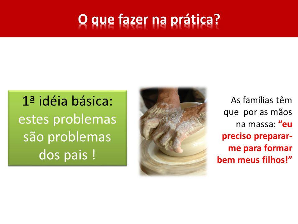 1ª idéia básica: estes problemas são problemas dos pais .