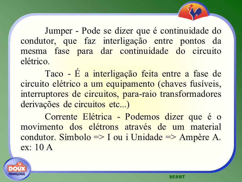 Jumper - Pode se dizer que é continuidade do condutor, que faz interligação entre pontos da mesma fase para dar continuidade do circuito elétrico. Tac