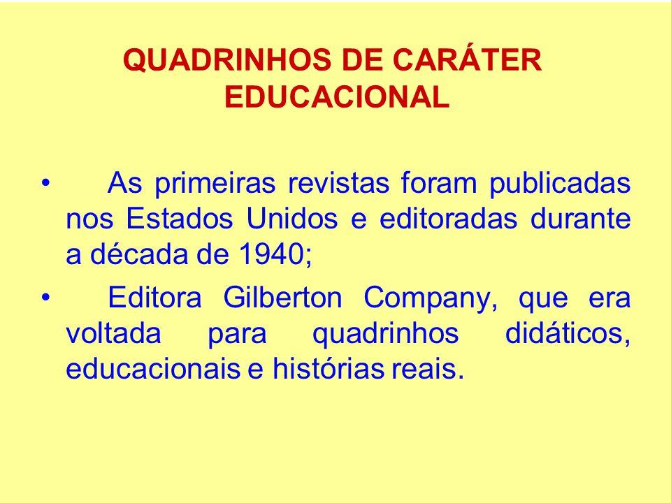 As primeiras revistas foram publicadas nos Estados Unidos e editoradas durante a década de 1940; Editora Gilberton Company, que era voltada para quadr
