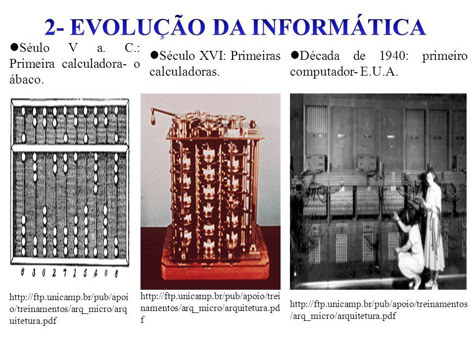 Século XVI: Primeiras calculadoras.