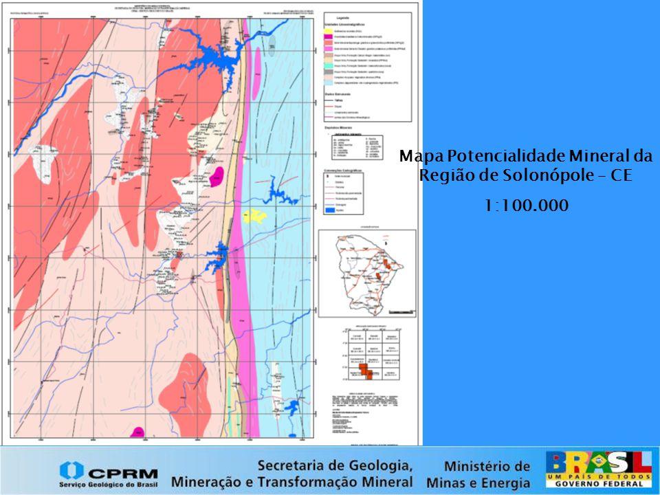 Mapa Potencialidade Mineral da Região de Solonópole – CE 1:100.000