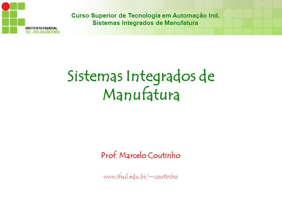 Curso Superior de Tecnologia em Automação Ind. Sistemas Integrados de Manufatura Prof. Marcelo Coutinho www.ifsul.edu.br/~coutinho
