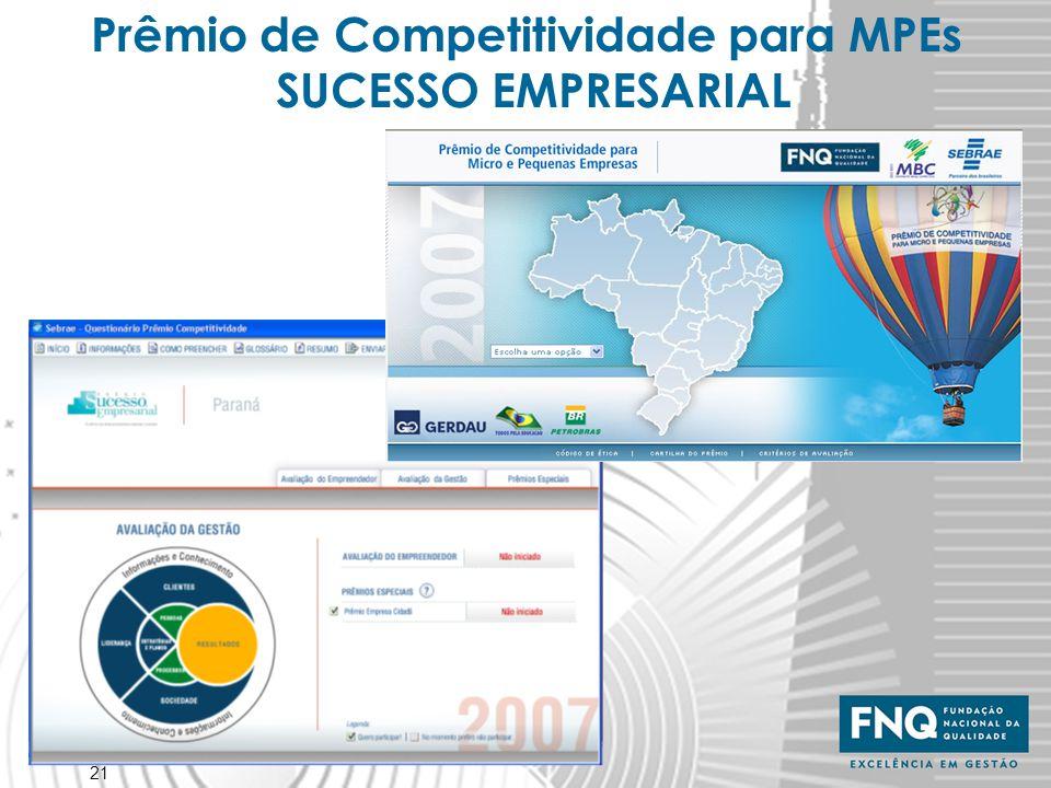 21 Prêmio de Competitividade para MPEs SUCESSO EMPRESARIAL