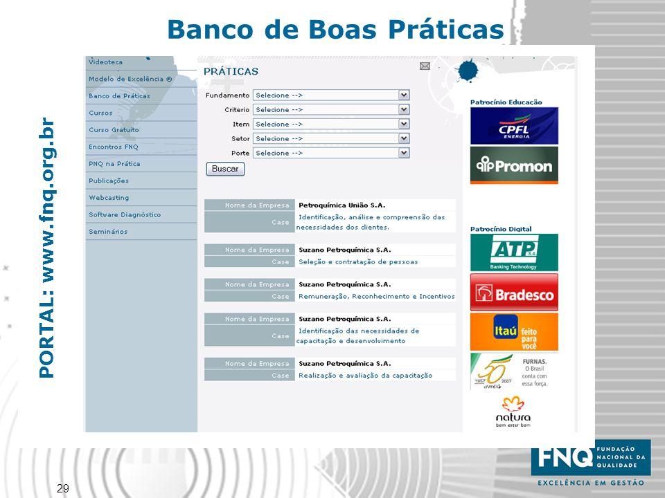 29 PORTAL: www.fnq.org.br Banco de Boas Práticas