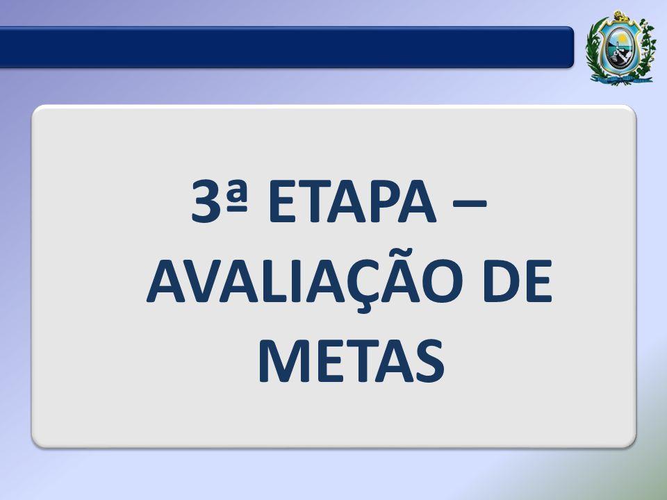 3ª ETAPA – AVALIAÇÃO DE METAS
