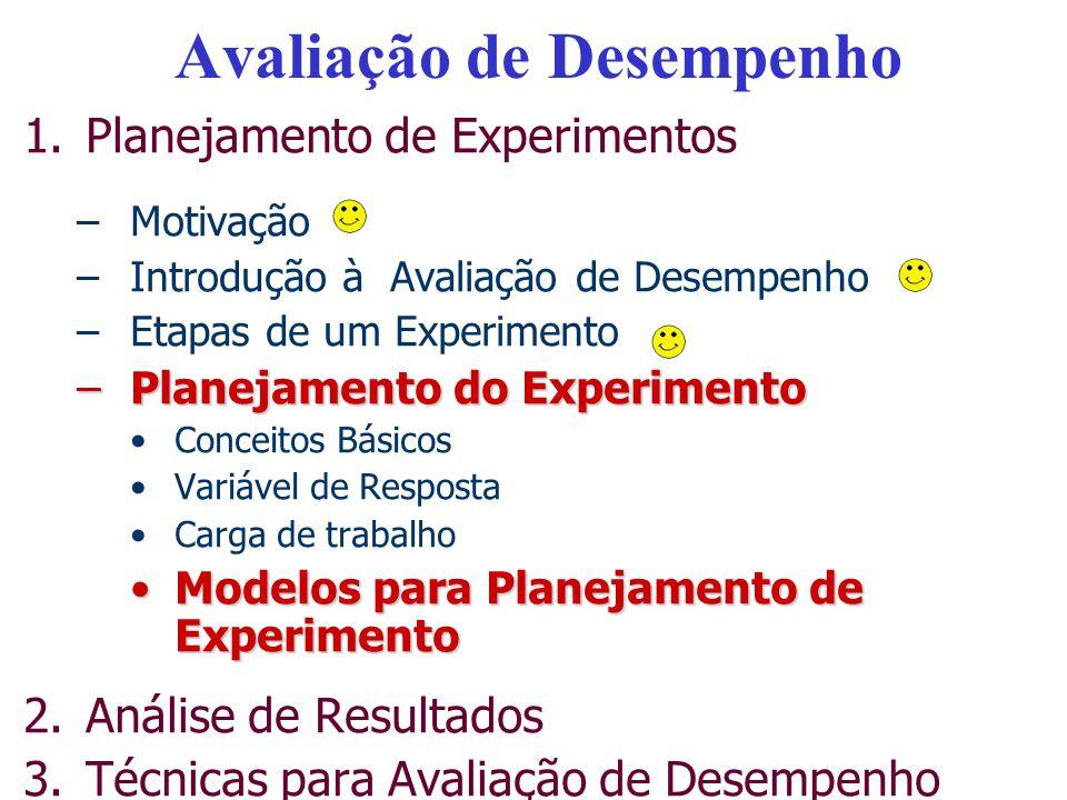 Planejamento de Experimento Planejamento de Experimentos designa toda uma área de estudos da Estatística que desenvolve técnicas de planejamento e análise de experimentos.