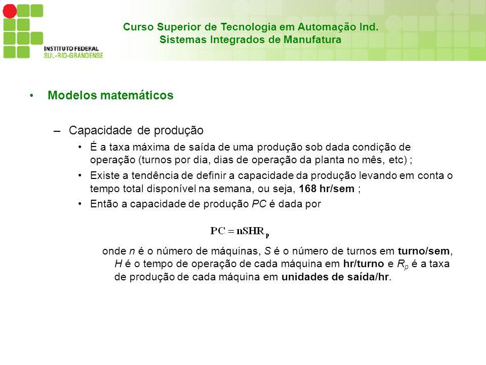 Curso Superior de Tecnologia em Automação Ind.