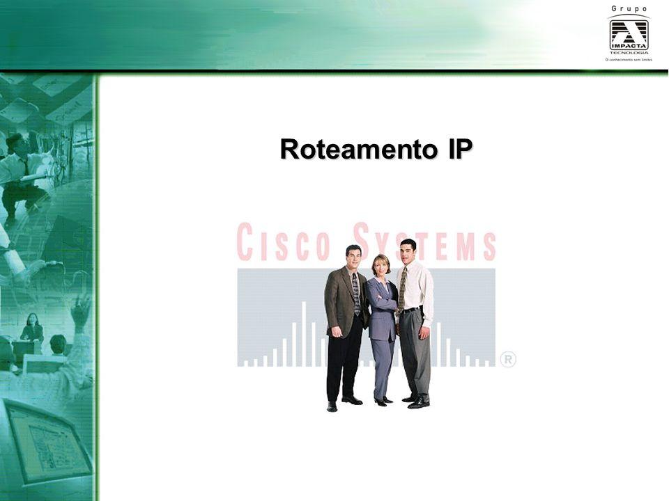 Configuração de Interface Ethernet interface EthernetPara configurar uma interface Ethernet, siga estas etapas: Entre no modo de configuração global: Router#configure terminalRouter#configure terminal Entre no modo de configuração da interface: Router(config)#interface ethernet 0Router(config)#interface ethernet 0 Especifique o endereço da interface e a máscara de sub-rede: Router(config-if)#ip address Router(config-if)#ip address Ative a interface: Router(config-if)#no shutdownRouter(config-if)#no shutdown OBS:OBS: O comando shutdown desativa uma interface.
