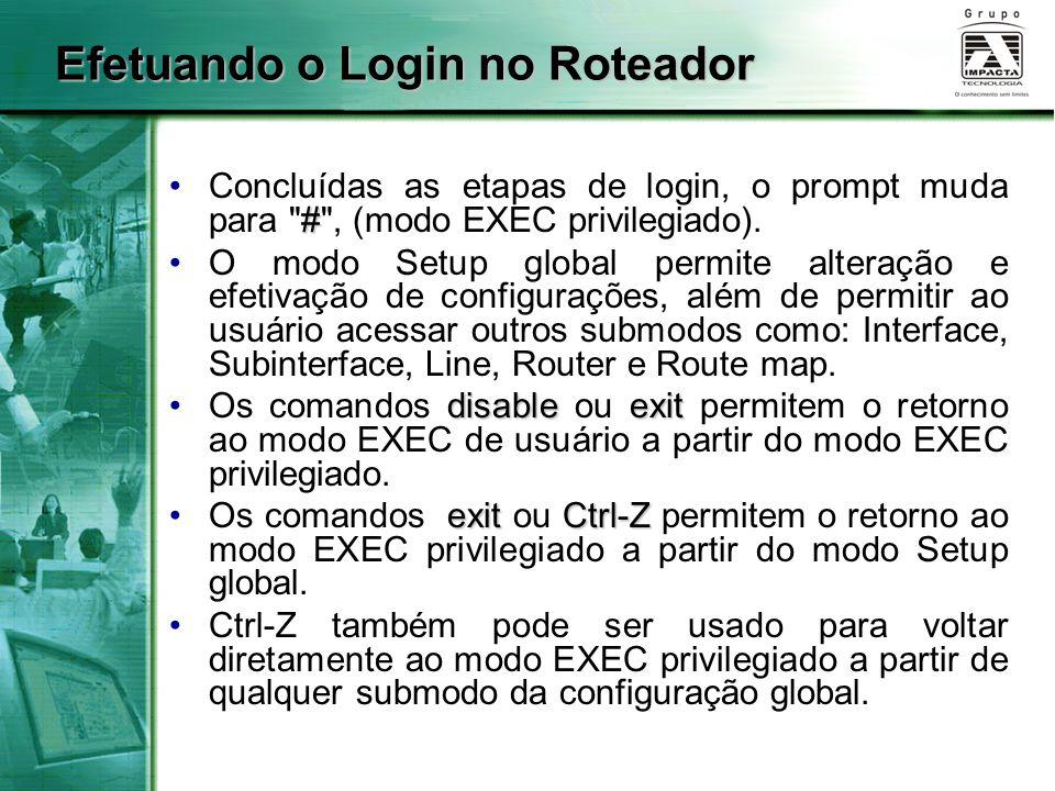 #Concluídas as etapas de login, o prompt muda para
