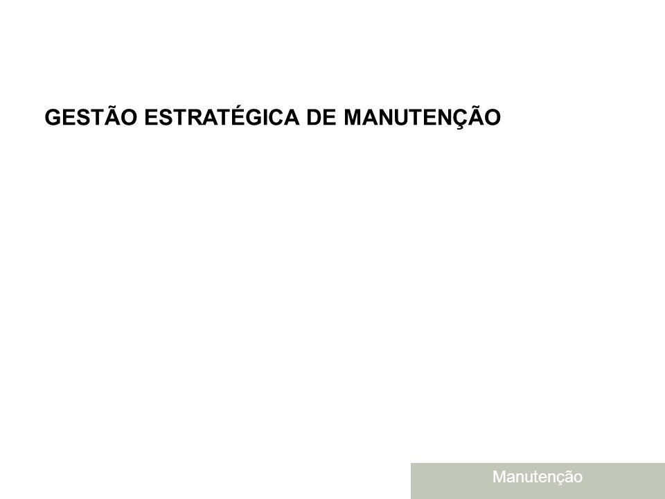 Brasil - junho de 2004 GESTÃO ESTRATÉGICA DE MANUTENÇÃO Manutenção