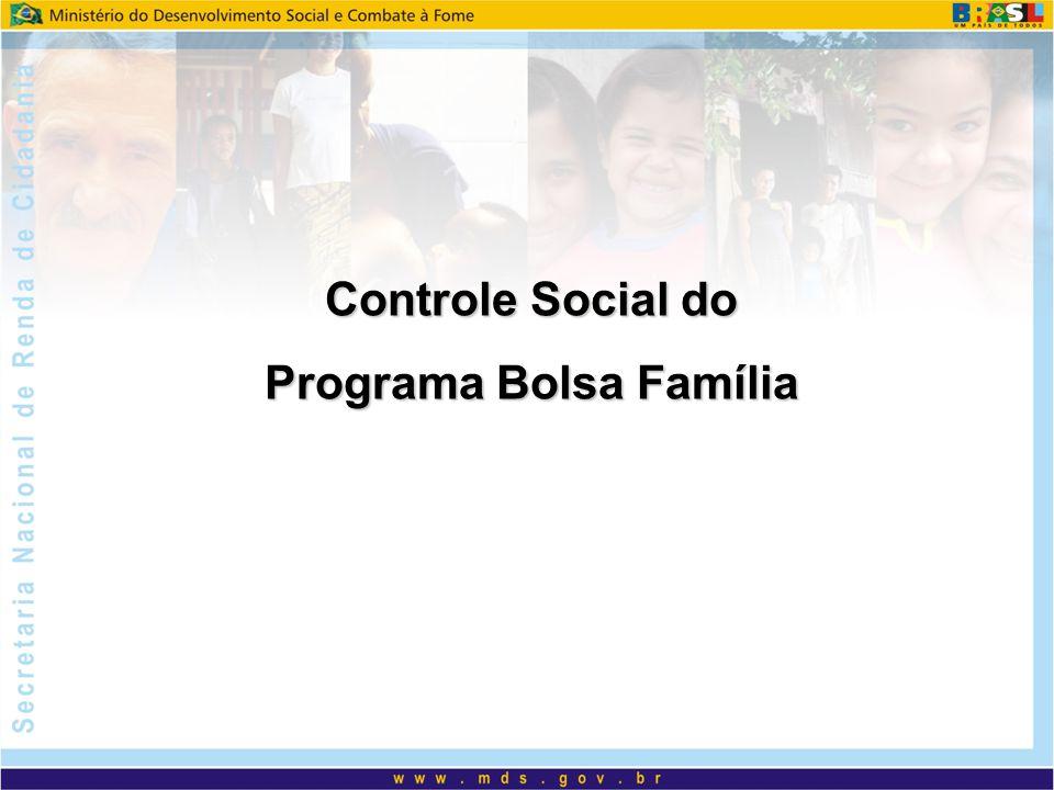 Lei nº 10.836 de 09/01/04 – estabelece que o controle social deverá ser realizado em âmbito local por um conselho ou comitê; Decreto nº 5.209 de 17/09/04 – estabelece as normas de acompanhamento, controle social e fiscalização para o PBF; Portaria 246/MDS de 20/05/05 – cria os instrumentos necessários para a adesão dos municípios ao PBF vinculada a criação ou designação de órgão de controle social; e Instrução Normativa n°1 de 20/05/05 – divulga as orientações para a constituição, formalização e atuação das Instâncias de Controle Social.