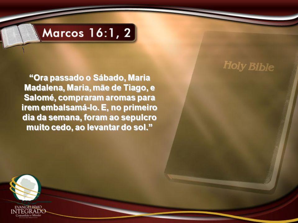 Havendo Ele ressuscitado de manhã cedo no primeiro dia da semana, apareceu primeiro a Maria Madalena, da qual expelira sete demônios