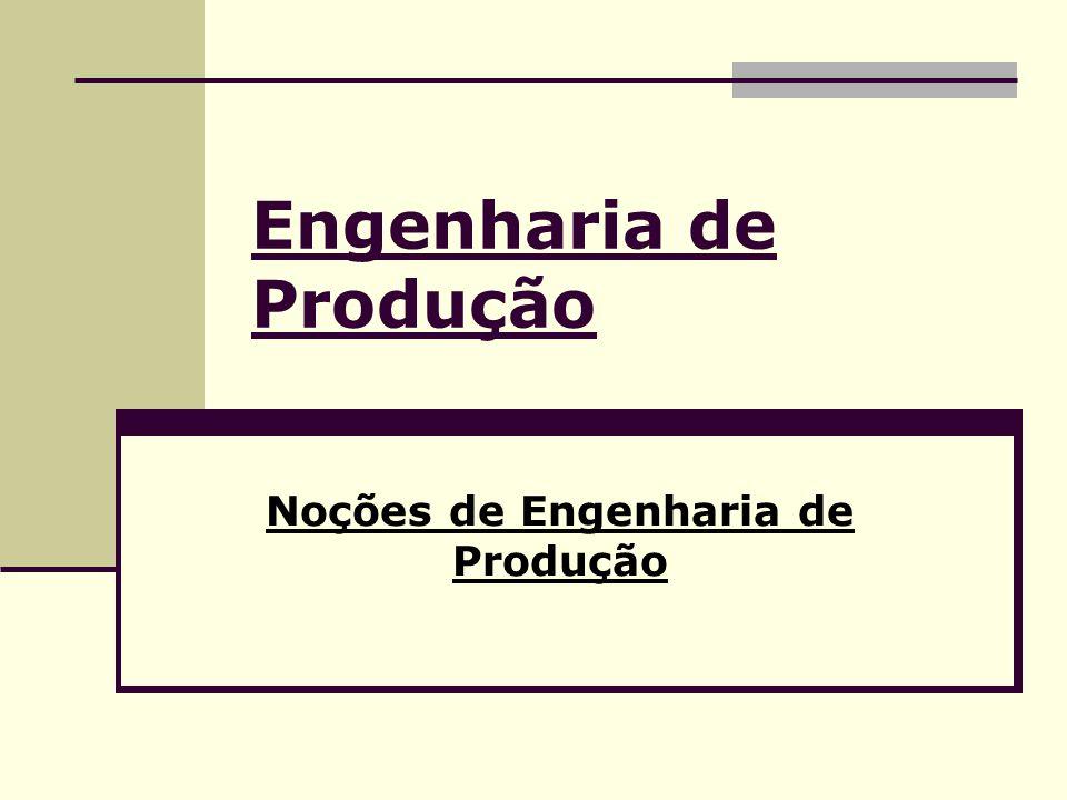 Engenharia de Produção Noções de Engenharia de Produção