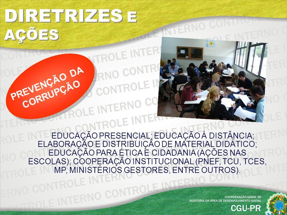 EDUCAÇÃO PRESENCIAL; EDUCAÇÃO À DISTÂNCIA; ELABORAÇÃO E DISTRIBUIÇÃO DE MATERIAL DIDÁTICO; EDUCAÇÃO PARA ÉTICA E CIDADANIA (AÇÕES NAS ESCOLAS); COOPER