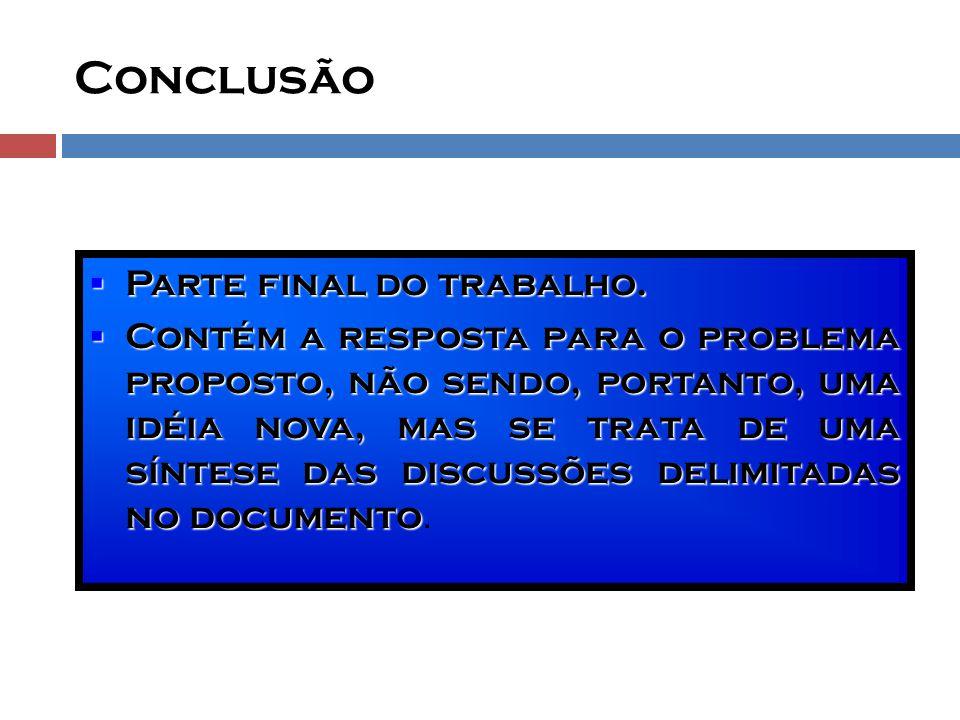 SUGESTÃO COMPLEMENTAR  Consulte a Norma da ABNT: NBR 14724:2002  Ela apresenta os princípios gerais Para ela B oraç ÃO de trabalhos acadêmicos www.geagea.com