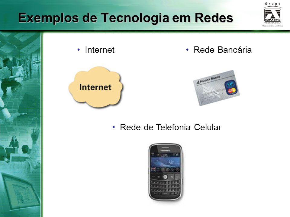 Exemplos de Tecnologia em Redes Internet Rede de Telefonia Celular Rede Bancária