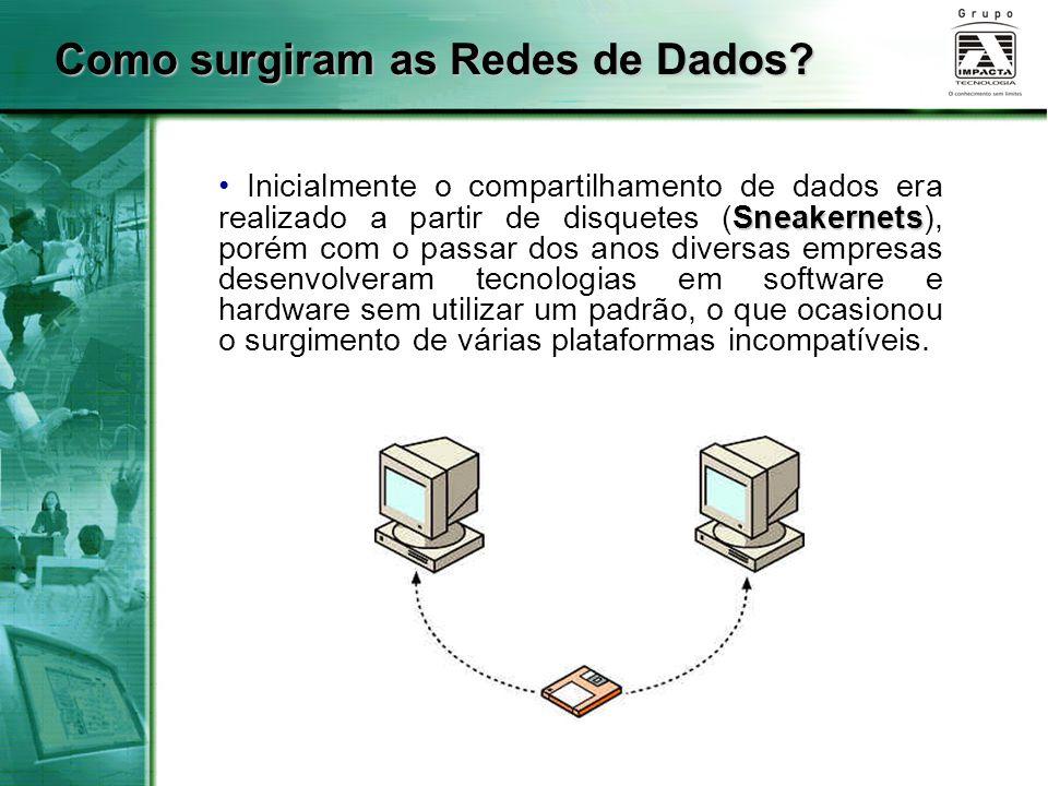 Sneakernets Inicialmente o compartilhamento de dados era realizado a partir de disquetes (Sneakernets), porém com o passar dos anos diversas empresas
