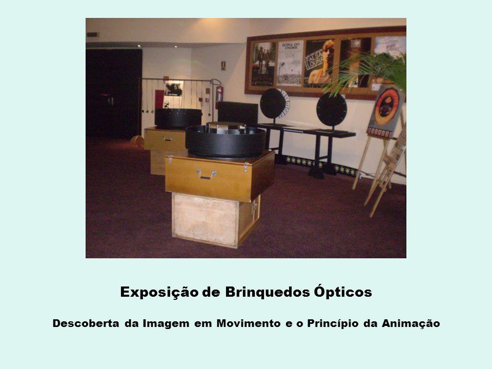Exposição de Brinquedos Ópticos Descoberta da Imagem em Movimento e o Princípio da Animação