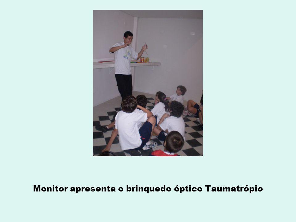 Monitor apresenta o brinquedo óptico Taumatrópio