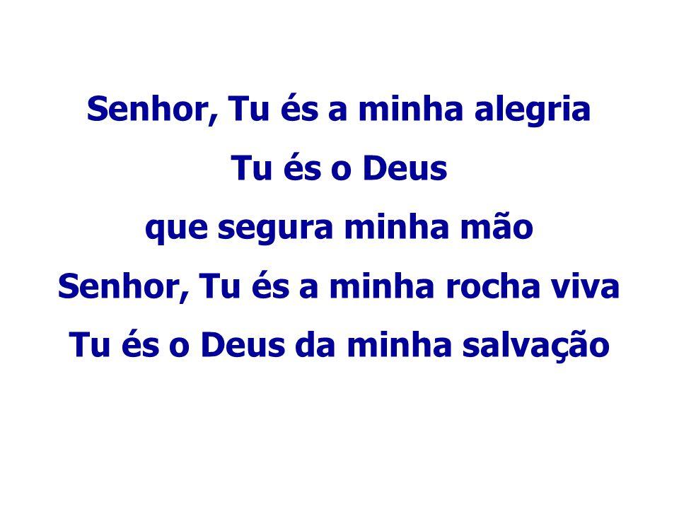 Senhor, Tu és a minha alegria Tu és o Deus que segura minha mão Senhor, Tu és a minha rocha viva Tu és o Deus da minha salvação