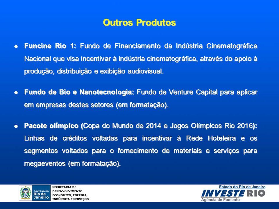 Funcine Rio 1: Fundo de Financiamento da Indústria Cinematográfica Nacional que visa incentivar à indústria cinematográfica, através do apoio à produç