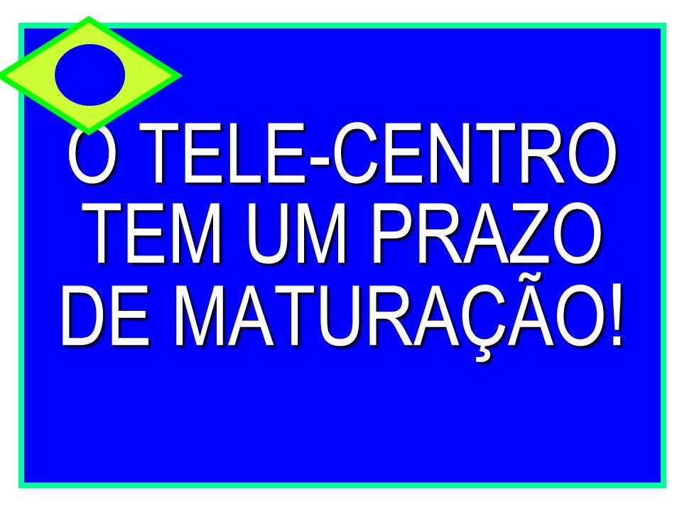 O TELE-CENTRO TEM UM PRAZO DE MATURAÇÃO !