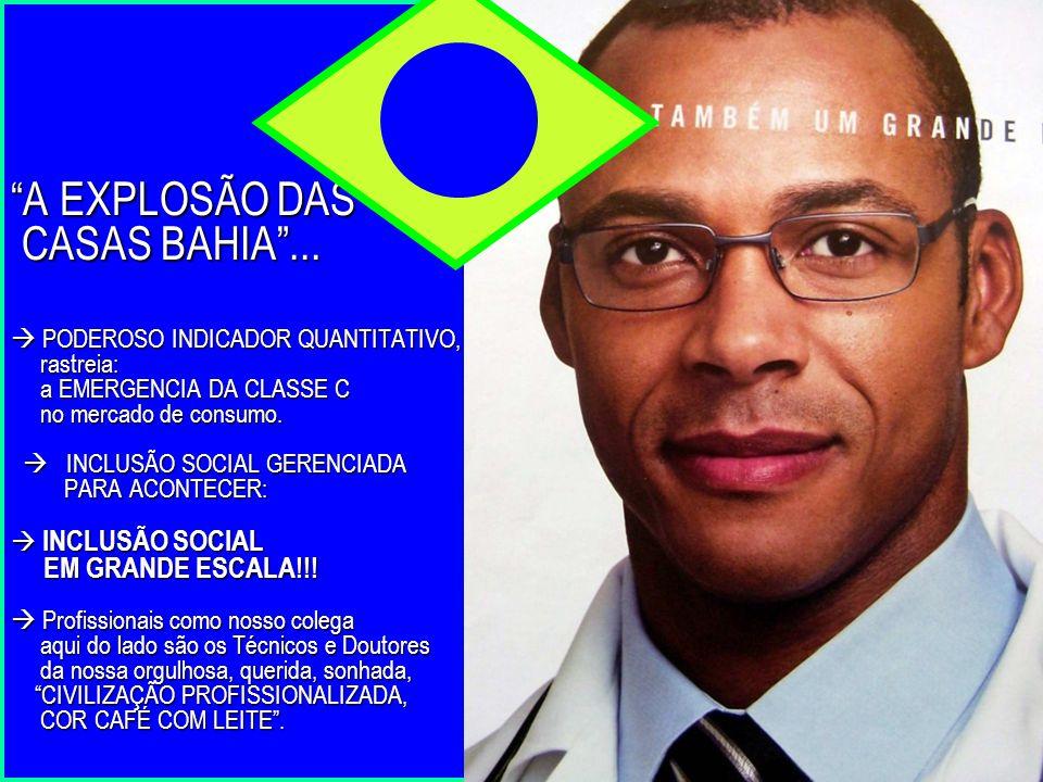 """""""A EXPLOSÃO DAS CASAS BAHIA""""...  PODEROSO INDICADOR QUANTITATIVO, rastreia: a EMERGENCIA DA CLASSE C no mercado de consumo.  INCLUSÃO SOCIAL GERENCI"""