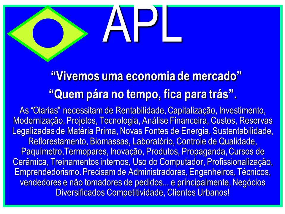 """APL """"Vivemos uma economia de mercado"""" """"Quem pára no tempo, fica para trás"""". As """"Olarias"""" necessitam de Rentabilidade, Capitalização, Investimento, Mod"""