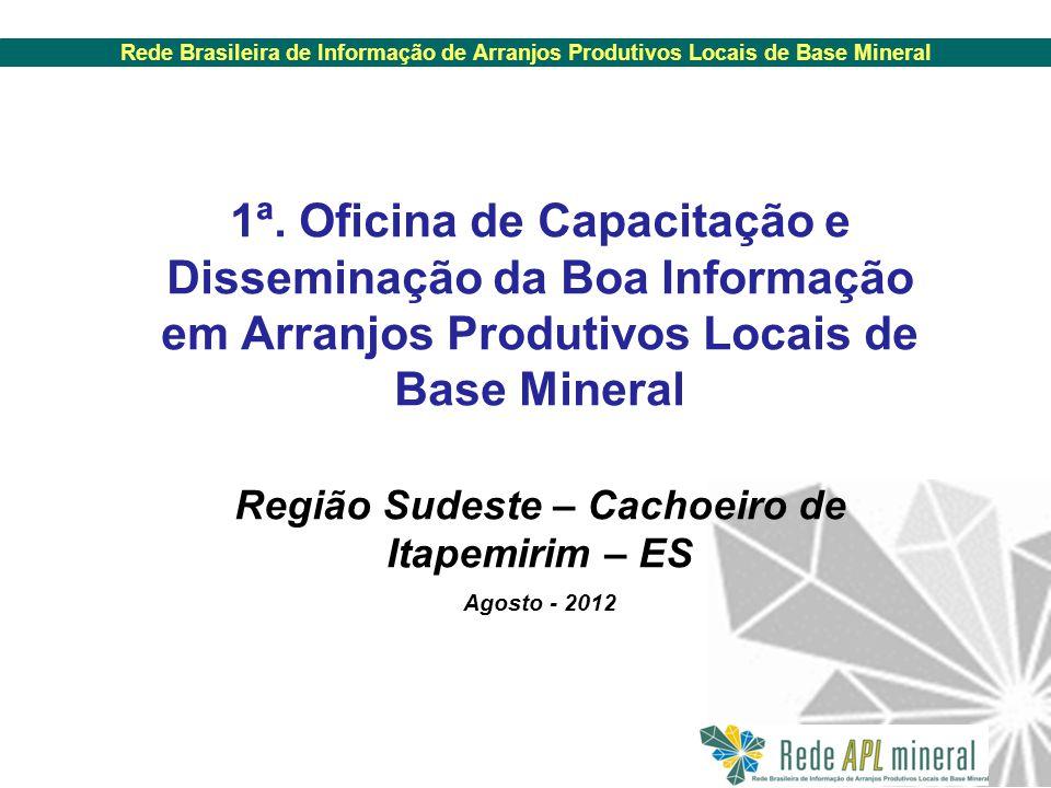 Rede Brasileira de Informação de Arranjos Produtivos Locais de Base Mineral 1ª.