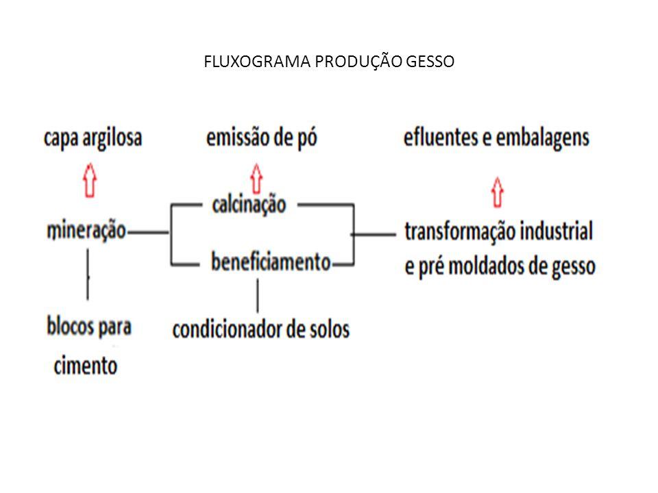 FLUXOGRAMA PRODUÇÃO GESSO