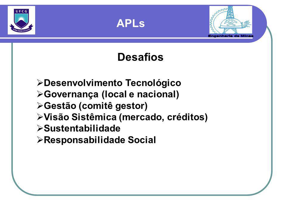 Desafios  Desenvolvimento Tecnológico  Governança (local e nacional)  Gestão (comitê gestor)  Visão Sistêmica (mercado, créditos)  Sustentabilidade  Responsabilidade Social
