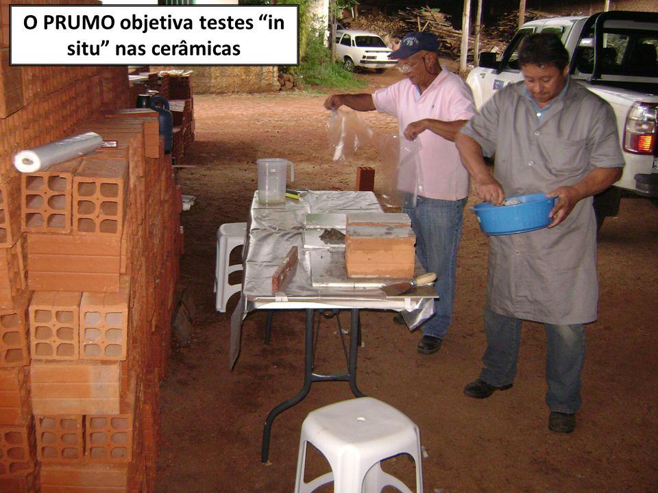 """O PRUMO objetiva testes """"in situ"""" nas cerâmicas"""