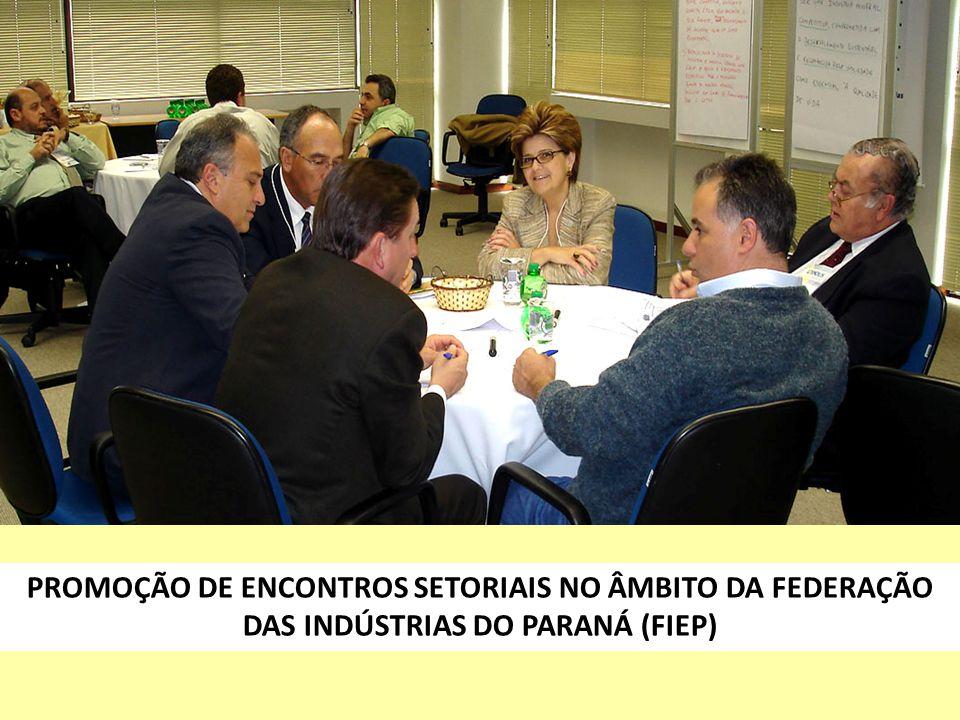 PROMOÇÃO DE ENCONTROS SETORIAIS NO ÂMBITO DA FEDERAÇÃO DAS INDÚSTRIAS DO PARANÁ (FIEP)